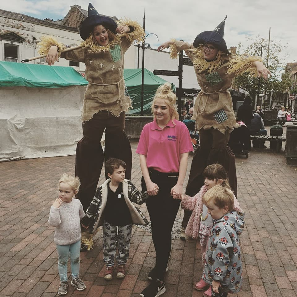 scarecrows,samedifferencearts,samedifference,stiltwalkers,halloween,harvestfestival, stiltwalkers